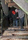 Steve and Gene working on the sawdust conveyer drive ----- IMG_0749a.jpg