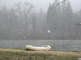 Snowing on the Upper Klamath