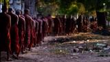 a row of prayers