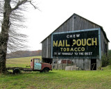 Mail Pouch Tobacco Barn with Truck. Taken in West Virginia, Route 50