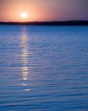 Sunset on Lake Minnewaska, Minnesota