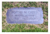 Bertha Jean Marincia Coatney was the 4th child, & the 2nd daughter born to, William Henry Coatney & his wife, Nancy Elizabeth [WELLS] Coatney. She was born in Endicott, Jefferson, NE on 20 February 1881. In 1899 she married, Charles Elihu Seabolt, & together this couple would share three children. Charles died in 1905 & she then married, William Henry Capps. There were no known children born to this couple that we're aware of. Bertha Marincia Capps died in Bell Garden, Los Angeles, CA on 20 January 1968, & is buried in Rose Hills Cemetery, Whittier, Los Angeles, CA. This photograph comes to us courtesy of, Kay Flemming.