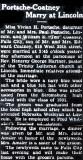 Above is the wedding announcement printed in the Falls City Nebraska newspaper for, William Edward Coatney and his bride, Vivian Hazel [Portsche] Coatney