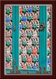 Buddhist Temple Wooden Lattice Door