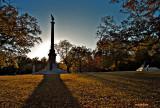 Iowa Monument in October Evening