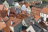 the roofs of Cesky Krumlov