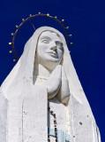 Paraparaumu statue, topaz detail (blue sky)