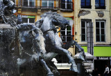 steaming horse fountain in Lyon
