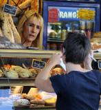 at the market boulangerie at Vallon Pont d'Arc