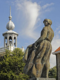 awaiting the return of her hubby - a statue in Urk