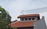 The Singapore airforce does a fly past