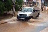 Agia Pelagia in heavy rain