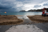 Beach washed away