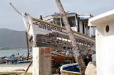Old boat in Juan Griego