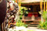 Inside a tempel in Ubud