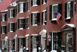 Beacon Hill: Louisburg Square with Snow
