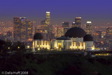 Griffith Observatory and Los Angeles Skyline at Night