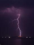 Lightnings over the dead sea