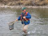 Landing a trout
