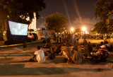 JOHN PARRA'S 2ND ANNUAL MOVIE NIGHT UNDER THE STARS FOR THE HOMELESS FREDYS CAZANOVE , JESS CAVANAUGH AND GRACIELA GONZALEZ