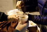 JOHN PARRA'S FOUNDATION AND NLM GIVE HOT CHOCOLATE AND BREAD TO THE HOMELESS!! on 12-27-10