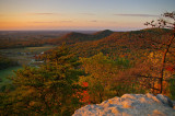 View from Indian Fort lookout at sunset