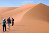 Penny climbing upto Deadvlei Namibia