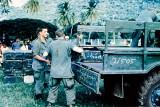 Unloading Soviet truck