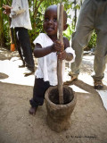 Youngest member of the coffee farmer family