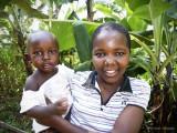 Children at the coffee farm