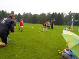 Football in rain