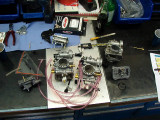 Disassembled KTM carbs for research