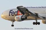 FedEx MD10-10F N393FE (ex United N1828U) landing at MIA aviation cargo airline stock photo #2138