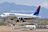 2008 - Delta Airlines B737-832 N3736C landing at Colorado Springs airline aviation stock photo #2668