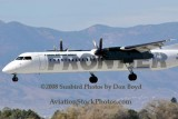 2008 - Frontier Airlines (Lynx Aviation) DHC-8-402Q Dash 8 N506LX landing at Colorado Springs aviation airline stock photo #2689