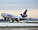 FedEx MD-10-10F N10060 taking off from Venice, Italy