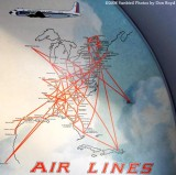 2008 - EAL route map on bulkhead of the Historical Flight Foundation's restored Eastern Air Lines DC-7B N836D stock photo #10021