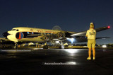 2010 - Roger Jarman of the Historical Flight Foundation watching nighttime engine run up by N836D
