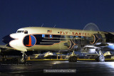 2010 - the Historical Flight Foundation's restored Eastern Air Lines DC-7B N836D performing a night run up stock photo #1298
