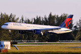 Delta Air Lines B757-232 N650DL landing, aviation airline air show stock photo #6380