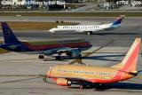 Southwest Airlines B737-7H4 N763SW, Air Jamaica A320 and Delta (Chautauqua) EMB-135 aviation stock photo #7798