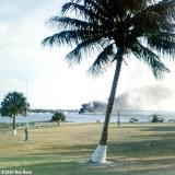 1967 - boat explosion and fire in front of CG Station Lake Worth Inlet on Peanut Island
