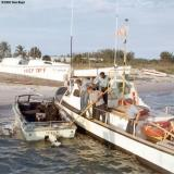1967 - SN Bruce, EN3 Smith, BM3 Alfred Hill and SN Dennis Stuver onboard CG-40485 at Station Lake Worth Inlet, Peanut Island