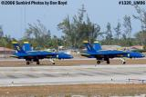 USN Blue Angels F/A-18 Hornets #1 and #2 taxiing military air show aviation stock photo #1320