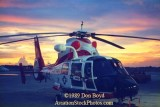 1989 - USCG HH-65 at sunset