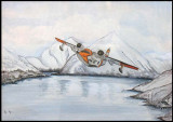 1960-1961 - USCG HU-16 Albatross at Kodiak, Alaska painting by Hy Stanton