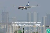 Aeromexico B737-700 on short final approach to MIA airline stock photo #0705