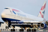 2008 - British Airways B747-436 G-BNLZ at MIA aviation airline stock photo #0752