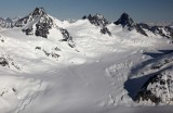 Dokdaon Pk (L) & Upper Scud Glacier, View N/NW  (AndreiScud042909--_036.jpg)