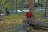 Filtering water from the Merced river